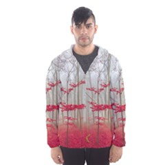 Magic Forest In Red And White Hooded Wind Breaker (men) by wsfcow