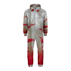 Magic Forest In Red And White Hooded Jumpsuit (kids) by wsfcow