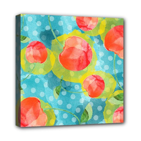Red Cherries Mini Canvas 8  X 8  by DanaeStudio