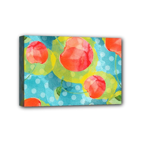Red Cherries Mini Canvas 6  X 4  by DanaeStudio