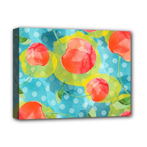 Red Cherries Deluxe Canvas 16  X 12   by DanaeStudio