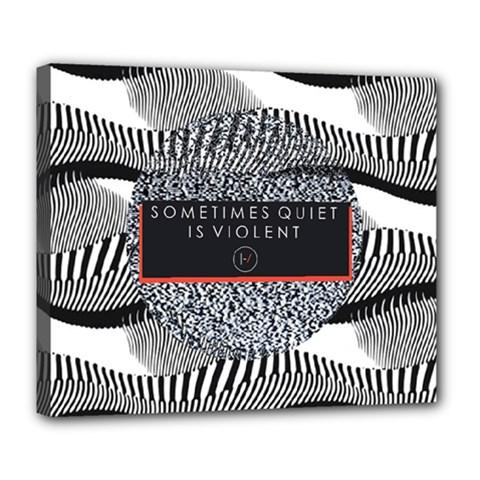 Sometimes Quiet Is Violent Twenty One Pilots The Meaning Of Blurryface Album Deluxe Canvas 24  X 20   by Onesevenart