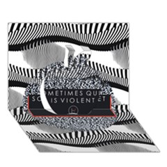 Sometimes Quiet Is Violent Twenty One Pilots The Meaning Of Blurryface Album Apple 3d Greeting Card (7x5) by Onesevenart