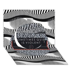 Sometimes Quiet Is Violent Twenty One Pilots The Meaning Of Blurryface Album Circle 3d Greeting Card (7x5) by Onesevenart
