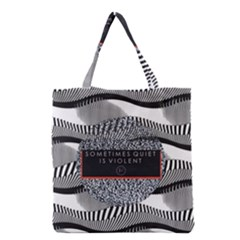 Sometimes Quiet Is Violent Twenty One Pilots The Meaning Of Blurryface Album Grocery Tote Bag by Onesevenart