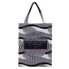 Sometimes Quiet Is Violent Twenty One Pilots The Meaning Of Blurryface Album Classic Tote Bag by Onesevenart