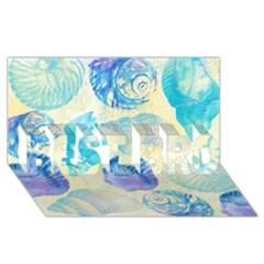 Seashells Best Bro 3d Greeting Card (8x4) by DanaeStudio