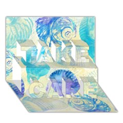 Seashells Take Care 3d Greeting Card (7x5) by DanaeStudio