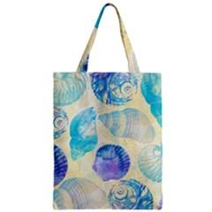 Seashells Zipper Classic Tote Bag by DanaeStudio
