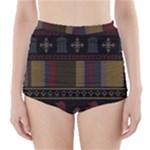 Tardis Doctor Who Ugly Holiday High-Waisted Bikini Bottoms