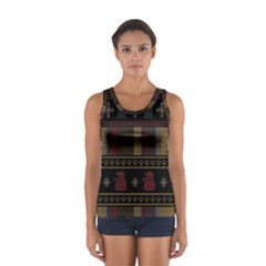 Tardis Doctor Who Ugly Holiday Women s Sport Tank Top  by Onesevenart