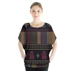 Tardis Doctor Who Ugly Holiday Blouse by Onesevenart