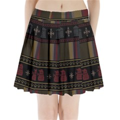 Tardis Doctor Who Ugly Holiday Pleated Mini Skirt by Onesevenart