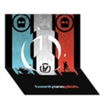 Twenty One 21 Pilots Peace Sign 3D Greeting Card (7x5)