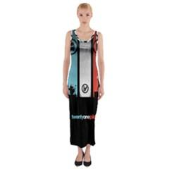 Twenty One 21 Pilots Fitted Maxi Dress by Onesevenart