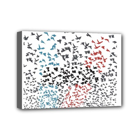 Twenty One Pilots Birds Mini Canvas 7  X 5  by Onesevenart