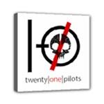 Twenty One Pilots Skull Mini Canvas 6  x 6