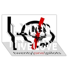 Twenty One Pilots Skull Laugh Live Love 3d Greeting Card (8x4) by Onesevenart