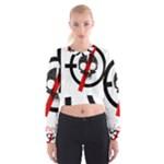 Twenty One Pilots Skull Women s Cropped Sweatshirt