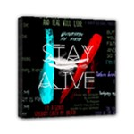 Twenty One Pilots Stay Alive Song Lyrics Quotes Mini Canvas 6  x 6