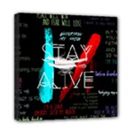 Twenty One Pilots Stay Alive Song Lyrics Quotes Mini Canvas 8  x 8