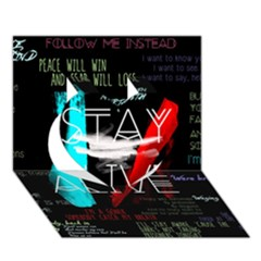 Twenty One Pilots Stay Alive Song Lyrics Quotes Heart 3d Greeting Card (7x5) by Onesevenart