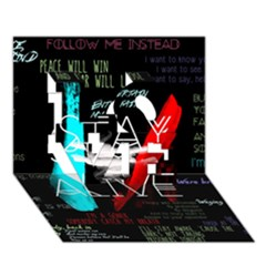 Twenty One Pilots Stay Alive Song Lyrics Quotes Love 3d Greeting Card (7x5) by Onesevenart