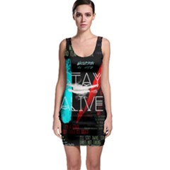 Twenty One Pilots Stay Alive Song Lyrics Quotes Sleeveless Bodycon Dress by Onesevenart