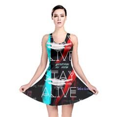Twenty One Pilots Stay Alive Song Lyrics Quotes Reversible Skater Dress by Onesevenart