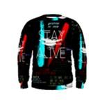 Twenty One Pilots Stay Alive Song Lyrics Quotes Kids  Sweatshirt