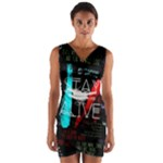 Twenty One Pilots Stay Alive Song Lyrics Quotes Wrap Front Bodycon Dress