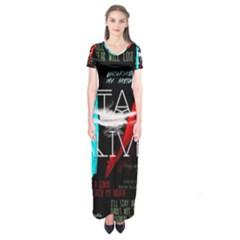 Twenty One Pilots Stay Alive Song Lyrics Quotes Short Sleeve Maxi Dress by Onesevenart