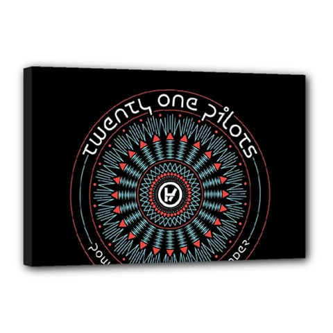 Twenty One Pilots Canvas 18  X 12  by Onesevenart