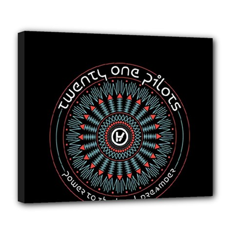 Twenty One Pilots Deluxe Canvas 24  X 20   by Onesevenart