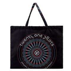 Twenty One Pilots Zipper Large Tote Bag by Onesevenart