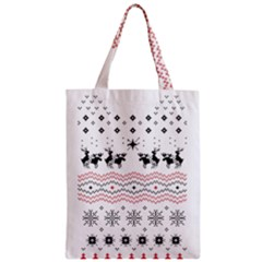 Ugly Christmas Humping Zipper Classic Tote Bag by Onesevenart