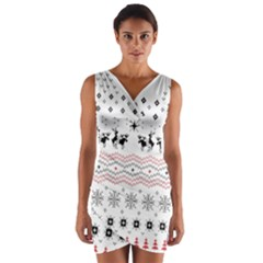 Ugly Christmas Humping Wrap Front Bodycon Dress by Onesevenart