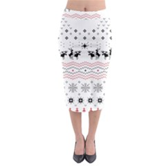 Ugly Christmas Humping Midi Pencil Skirt by Onesevenart