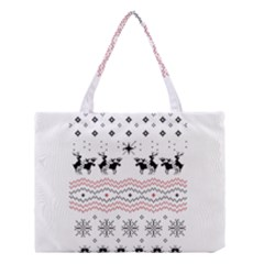 Ugly Christmas Humping Medium Tote Bag by Onesevenart