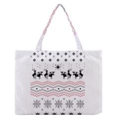 Ugly Christmas Humping Medium Zipper Tote Bag by Onesevenart