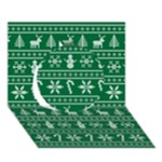 Ugly Christmas Circle 3D Greeting Card (7x5)