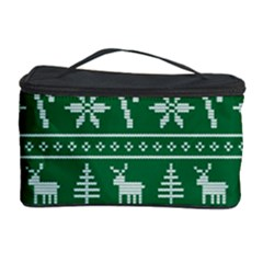 Ugly Christmas Cosmetic Storage Case by Onesevenart