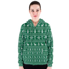 Ugly Christmas Women s Zipper Hoodie by Onesevenart