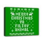 Ugly Christmas Ya Filthy Animal Canvas 10  x 8