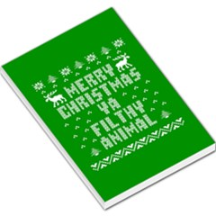 Ugly Christmas Ya Filthy Animal Large Memo Pads by Onesevenart