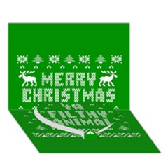 Ugly Christmas Ya Filthy Animal Heart Bottom 3d Greeting Card (7x5) by Onesevenart