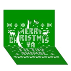 Ugly Christmas Ya Filthy Animal Apple 3d Greeting Card (7x5) by Onesevenart