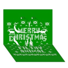 Ugly Christmas Ya Filthy Animal Clover 3d Greeting Card (7x5) by Onesevenart