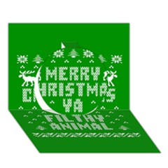 Ugly Christmas Ya Filthy Animal Circle 3d Greeting Card (7x5) by Onesevenart