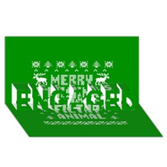 Ugly Christmas Ya Filthy Animal Engaged 3d Greeting Card (8x4) by Onesevenart